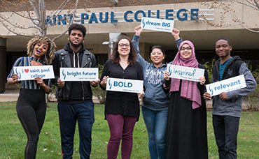 students of saint paul college