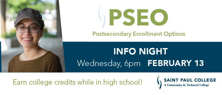 PSEO Info Night | Wednesday, February 13, 6pm