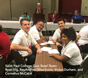 Saint Paul College National Competition Quiz Bowl students.jpg
