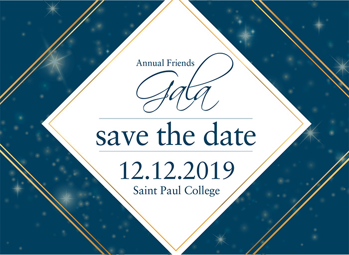 Save the Date! 12/12/19 Annual Friends of Saint Paul College Gala