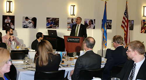 Chancellor Rosenstone Legislative Breakfast.jpg
