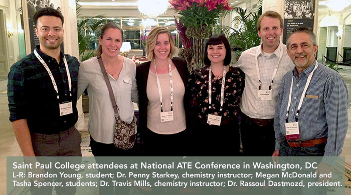 saint paul college attendees at National ATE  Conference in Washington DC.