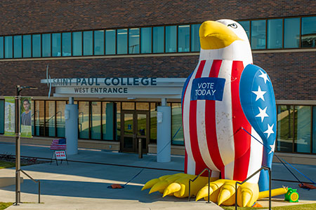 Inflatable Eagle, Vote Today