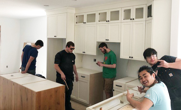 Cabinetmaking Students and the NE Metro Career & Tech Center Project House