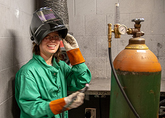 image of a student welder
