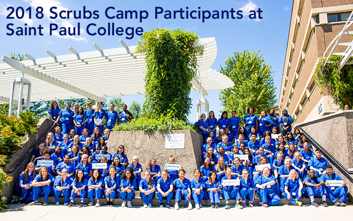 2018 Scrubs Camp Participants at Saint Paul College