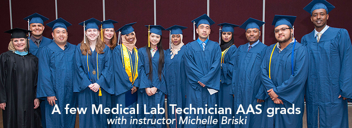 MLT Grads with instructor